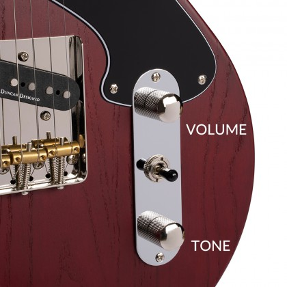 Cort Sunset TC open pore in Burgundy Red Guitar